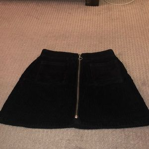 Black corduroy urban outfitters skirt!
